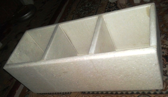 Marble White 3 Chamber Planter By Malvia Exports